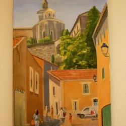 Montée des Doms Avignon - Huile