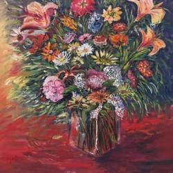 BOUQUET  Fleurs des champs  70*70