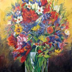 Bouquet !!! Format 73x60  Vendu