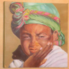 Jeune Fille Afghane - Huile - 40 cm x 40 cm - 2012 CP