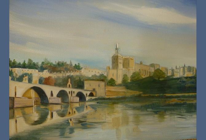 Pont Saint Benezet à Avignon - Huile - 2013