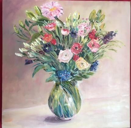 Petit bouquet printannier 40*40  280 E