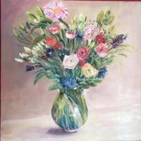 Petit bouquet printannier 40*40 Vendu