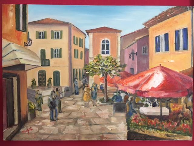 Roussillon place de la Mairie