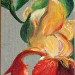 Trilogie d iris - Huile - Vendu