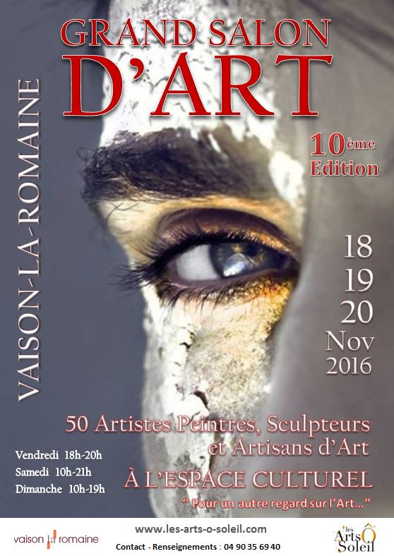 Affiche grand salon d art vaison 2016 4