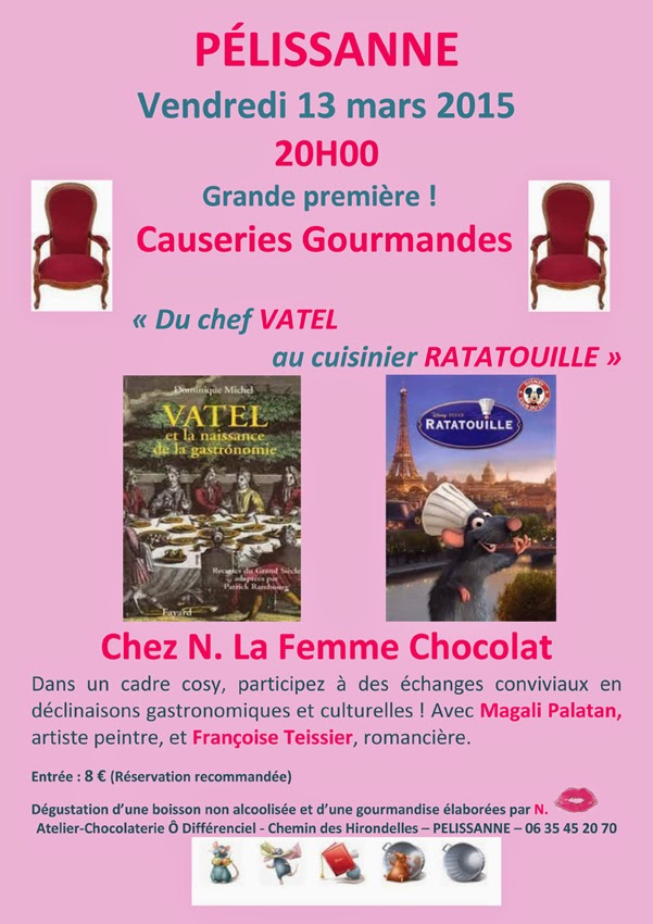 Affiche les causeries gourmandes 1