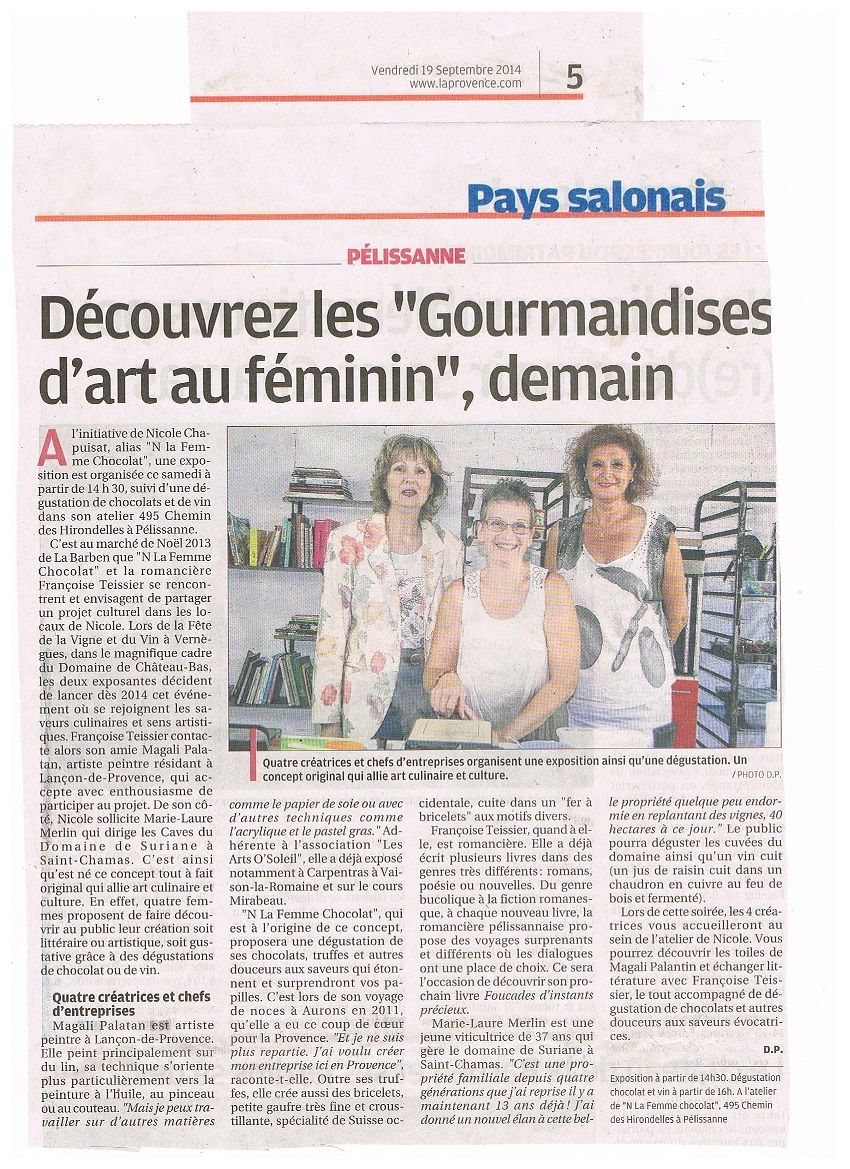 Gourmandises d arts 0914